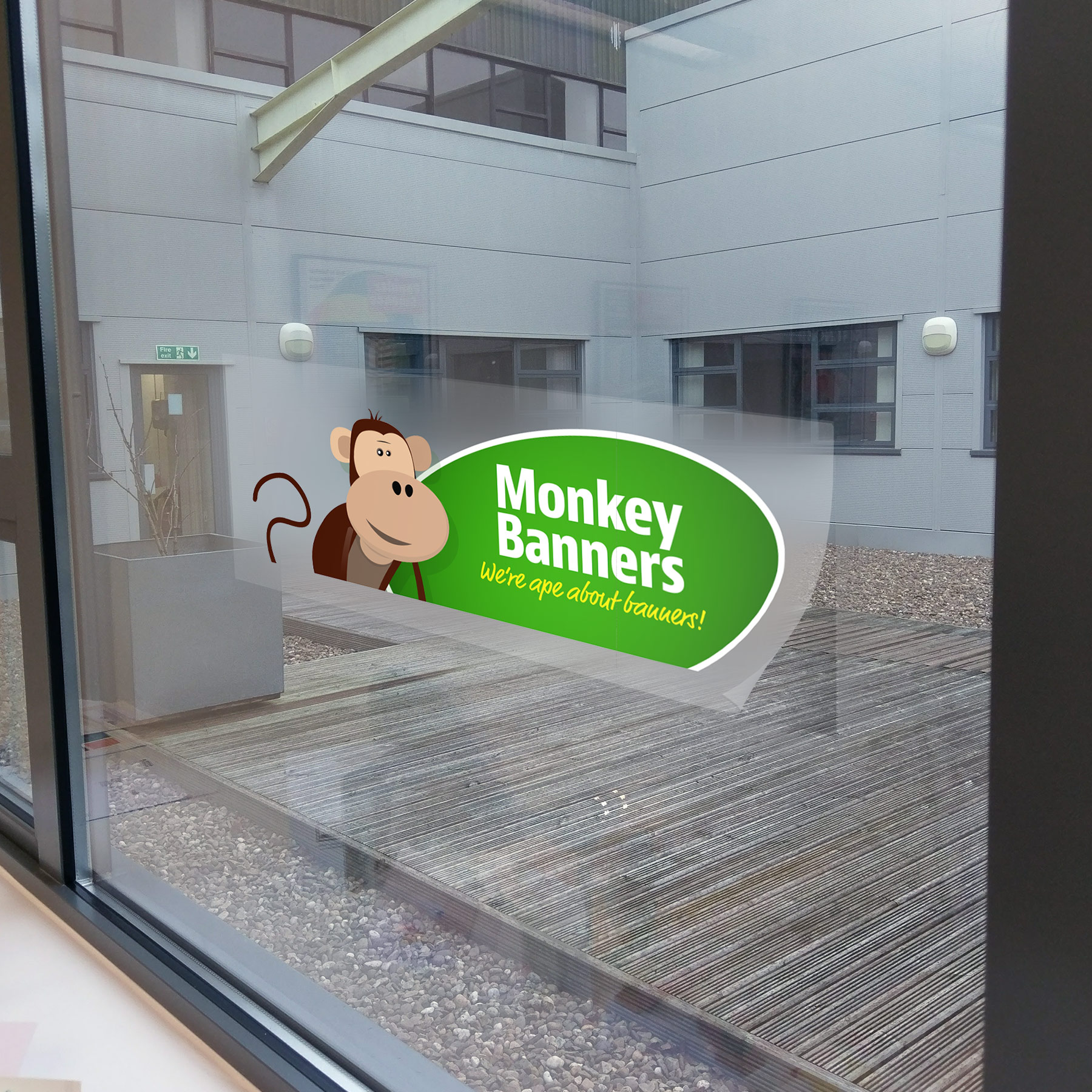 graphic relating to Clear Printable Vinyl known as Obvious Self Adhesive Vinyl Printing Monkey Banners